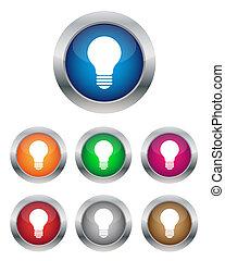 botões, lâmpada