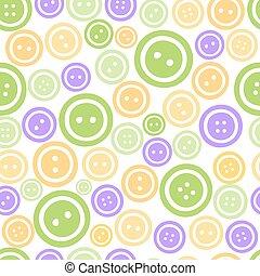 botões, padrão, coloridos, seamless, fundo