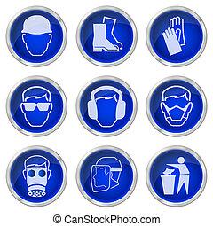 botões, segurança, saúde