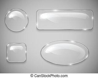 botões, vidro