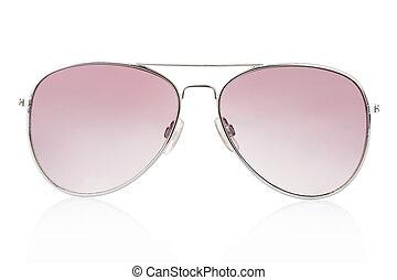 branca, óculos de sol, aviador