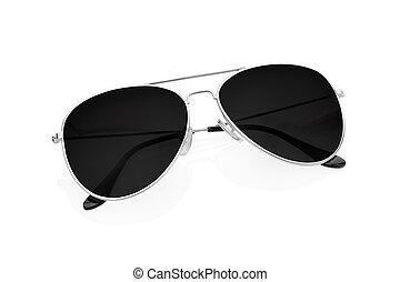 branca, óculos de sol