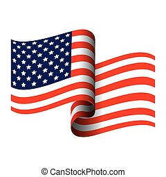branca, américa, estado unido, fundo, bandeira