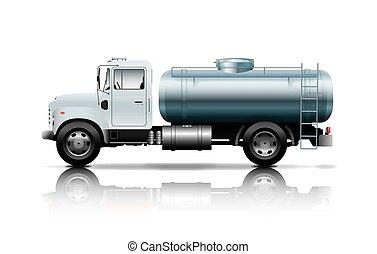 branca, caminhão petroleiro