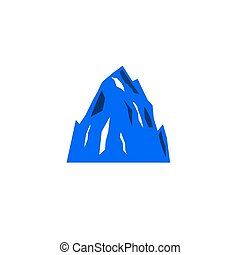 branca, colina, montanhas, ícone, azul, desenho