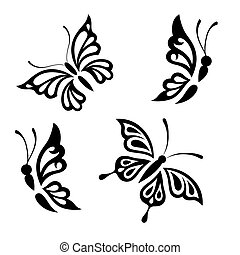 branca, pretas, borboletas, cobrança