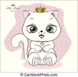 branca, princesa, gatinho