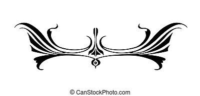 branca, vetorial, ornamento, fundo