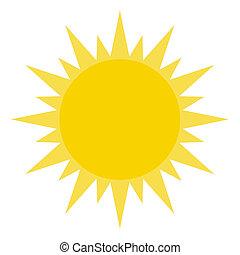brilhar, sol, amarela