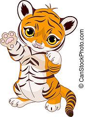 brincalhão, tiger, cute, filhote