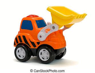 brinquedo, escavador