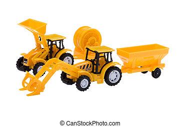 brinquedo, isolado, escavador