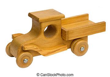 brinquedo madeira, caminhão