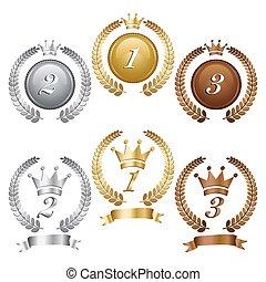 bronze prata ouro, medalhas