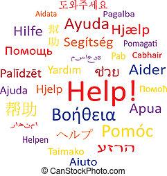 bubble:, help., tag, fala, ou, nuvem