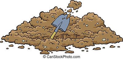 buraco, cavando