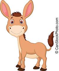burro, caricatura, cute