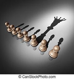 busca, liderança
