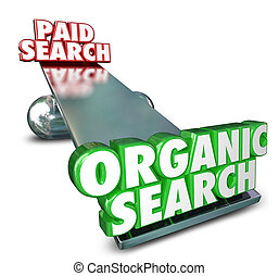 busca, orgânica, marketing, pago, vs, anunciando, internet, seo, resultado