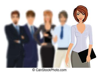 busines, negócio mulher, equipe