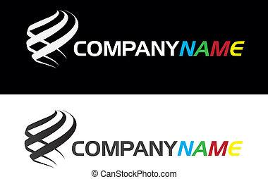(business), companhia, desenho, logotipo