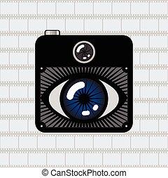 câmera foto, olho