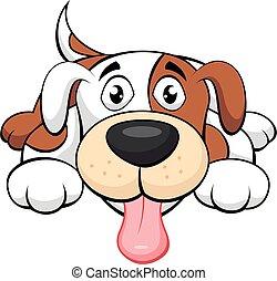 cão, cute, caricatura