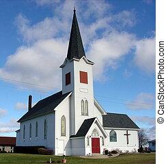 céu azul, igreja