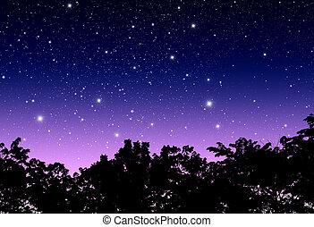céu, crepúsculo