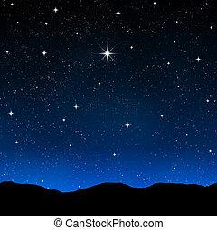 céu estrelado, noturna