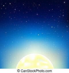 céu noite, lua