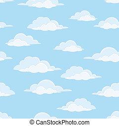 céu, nuvens, seamless