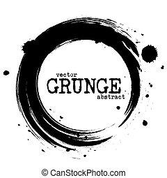 círculo, abstratos, vetorial, formas, grunge