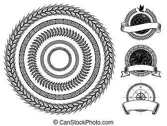 círculo, elementos, quadro