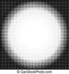 círculo, fundo, halftone