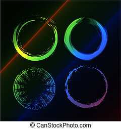 círculo, grunge