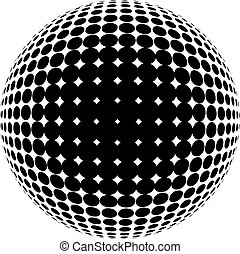 círculo, halftone