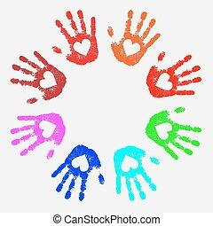 círculo, mãos