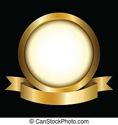 círculo, ouro