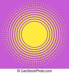 círculo, textura, halftone