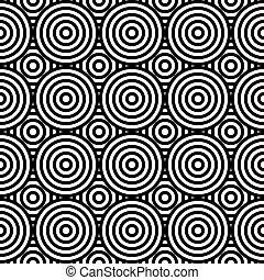 círculos, abstratos, diferente, ornament., geomã©´ricas, seamless, pattern.
