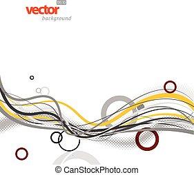 círculos, abstratos, lines., fundo