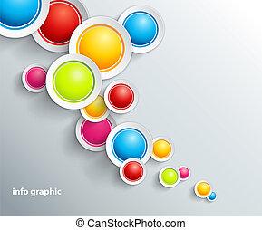 círculos, abstratos, text., lugar, fundo, seu