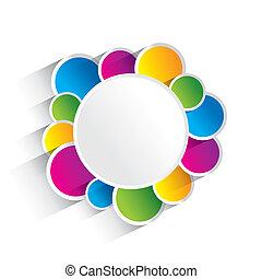 círculos, coloridos, criativo