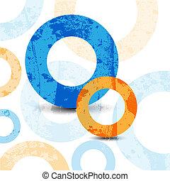 círculos, gráfico, padrão, projeto abstrato, fundo, alta tecnologia
