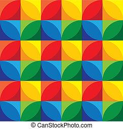círculos, &, grap, -, seamless, vetorial, fundo, geomã©´ricas, quadrados