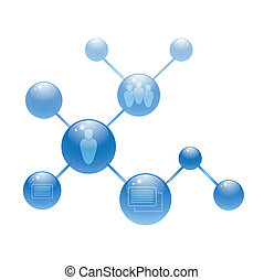 círculos, mídia, social