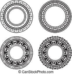 círculos, ornate