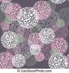 círculos, padrão, abstratos, seamless