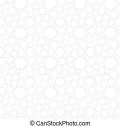 círculos, padrão, branca, seamless